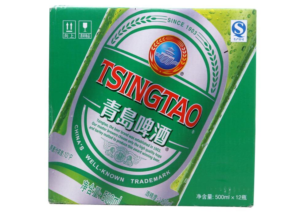 青岛啤酒-银标500ml*12瓶