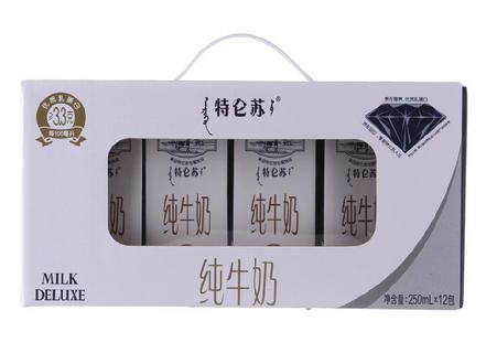 """""""蒙牛""""特仑苏纯牛奶250ML*12"""