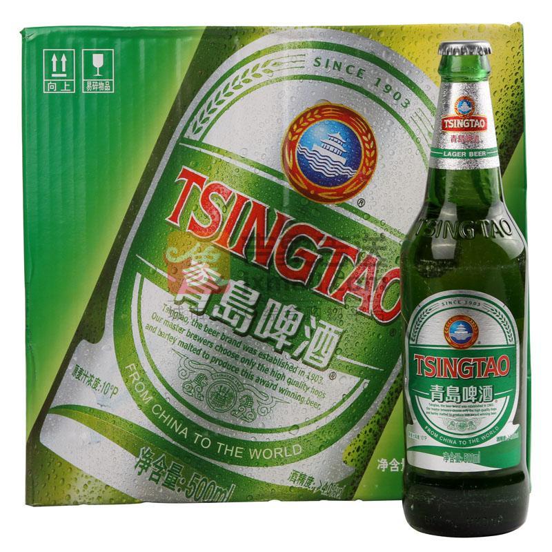 """""""青岛""""啤酒-银标500ml*12瓶"""