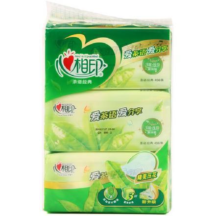 """""""心相印""""茶语系列纸巾3层软包抽纸152抽*3包(买贵补差)"""