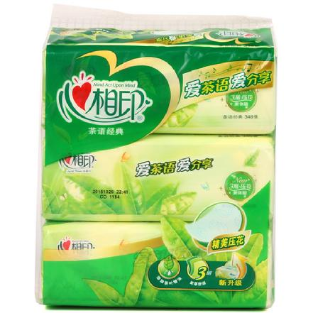 """""""心相印""""茶语系列纸巾软包抽纸116抽*3包(买贵补差)"""