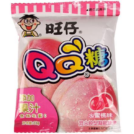"""""""旺仔""""QQ糖水蜜桃味23g"""