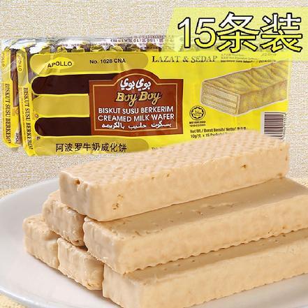 """""""阿波罗""""牛奶威化饼150g/条"""