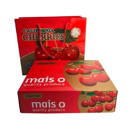 真正智利大樱桃(大礼盒装,附赠礼袋,含盒重约3斤)