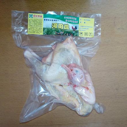 [原生态]河田镇的河田土鸡 净重约1.8-2斤 皮Q肉嫩 非常非常好吃(现杀,无内脏)