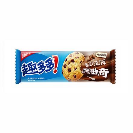 """""""趣多多""""香浓巧克力味香脆曲奇饼干95g"""