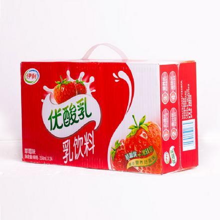 """""""伊利""""优酸乳草莓250ml*24盒"""