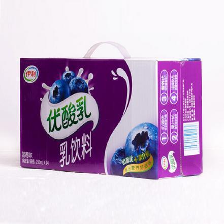 """""""伊利""""优酸乳蓝莓250ml*24盒"""