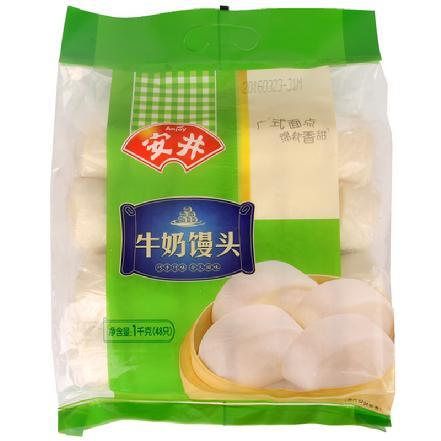 """""""安井""""牛奶馒头1kg,48只/包"""